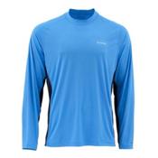 Simms SolarFlex Long Sleeve Solid Crew Mens Shirt, Harbor Blue, medium