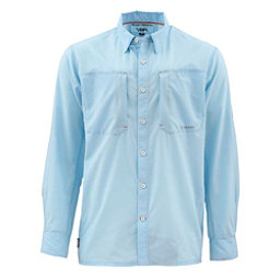 Simms Ultralight Long Sleeve Mens Shirt, Light Blue, 256