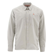 Simms Bugstopper Long Sleeve Solid Mens Shirt, Ash, medium