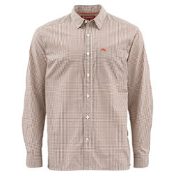 Simms Westshore Long Sleeve Mens Shirt, Dune Plaid, 256