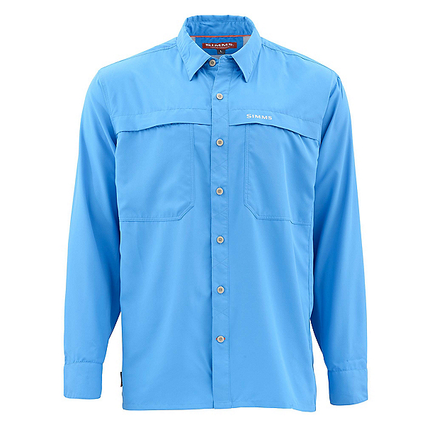 Simms Ebbtide Long Sleeve Mens Shirt, Harbor Blue, 600