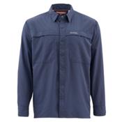 Simms Ebbtide Long Sleeve Mens Shirt, Oxford Blue, medium