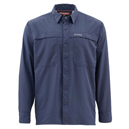 Simms Ebbtide Long Sleeve Mens Shirt, Oxford Blue, 256