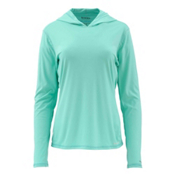 Simms Solarflex Womens Hoodie, Mint, medium