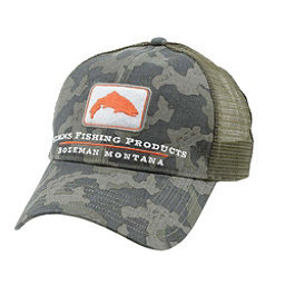 Simms Trout Trucker Hat, Simms Camo, 256