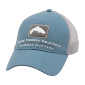 Simms Trout Trucker Hat, Blue Stream, medium