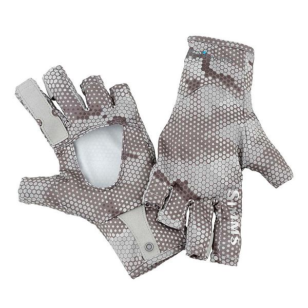 Simms SolarFlex SunGlove Paddling Gloves 2017, Hex Camo Boulder, 600