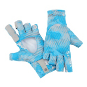 Simms SolarFlex SunGlove Paddling Gloves 2017, Hex Camo Capri, medium