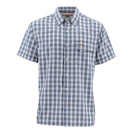 Simms Big Sky Short Sleeve Mens Shirt, Oxford Blue Plaid, 256