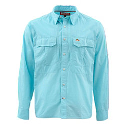 Simms Deceiver Long Sleeve Mens Shirt, Turquoise, 256