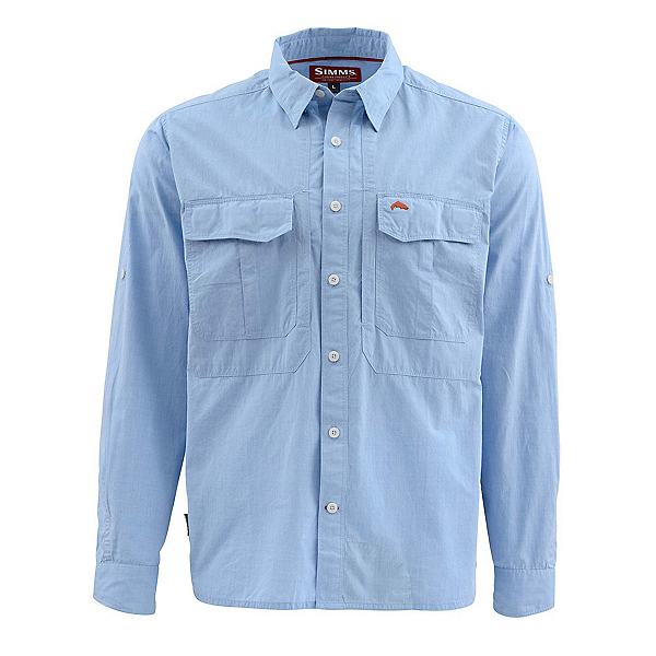 Simms Deceiver Long Sleeve Mens Shirt, Harbor Blue, 600