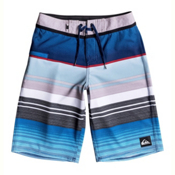 Quiksilver Everyday Stripe Vee Boys Bathing Suit, Wet Weather, medium