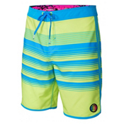 O'Neill Hyperfreak Generator Scallop Mens Board Shorts, Neon Yellow, medium