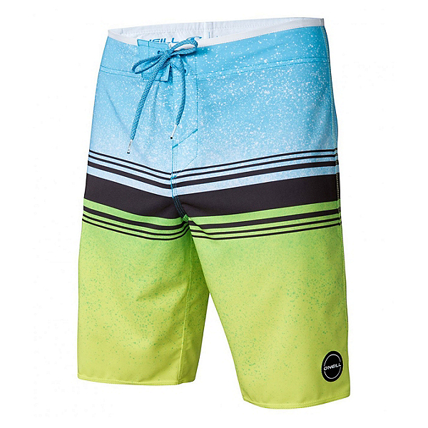 O'Neill Hyperfreak Fusion Mens Board Shorts, Lime, 600