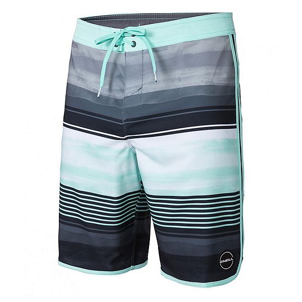 O'Neill Hyperfreak Heist Scallop Mens Board Shorts, Aqua, 600