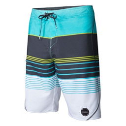 O'Neill Hyperfreak Transfer S-Seam Mens Board Shorts, Aqua, 256