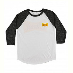 O'Neill Brewer Raglan Mens Shirt, White-Black, 256