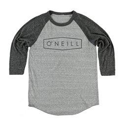 O'Neill Unity Raglan Mens Shirt, Grey-Black, 256