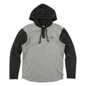 O'Neill The Bay Hooded Henley Mens Hoodie, Grey, medium