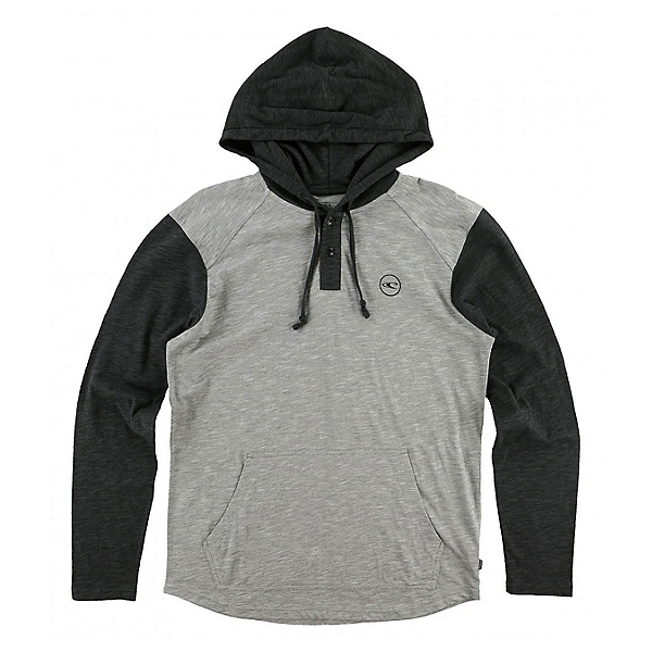 O'Neill The Bay Hooded Henley Mens Hoodie, Grey, 600