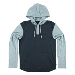 O'Neill The Bay Hooded Henley Mens Hoodie, Ocean, 256