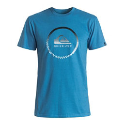 Quiksilver Active Momentum Mens T-Shirt, Vallarta Blue, 256