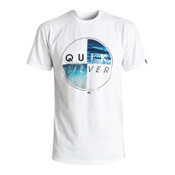 Quiksilver Blazed Mens T-Shirt, White, medium