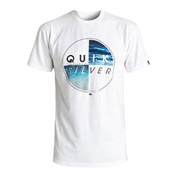 Quiksilver Blazed Mens T-Shirt, White, 256