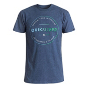Quiksilver Free Zone Mens T-Shirt, Dark Denim Heather, medium
