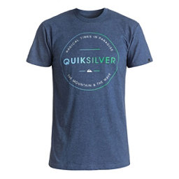 Quiksilver Free Zone Mens T-Shirt, Dark Denim Heather, 256