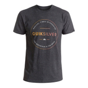 Quiksilver Free Zone Mens T-Shirt, Charcoal Heather, medium
