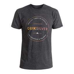 Quiksilver Free Zone Mens T-Shirt, Charcoal Heather, 256