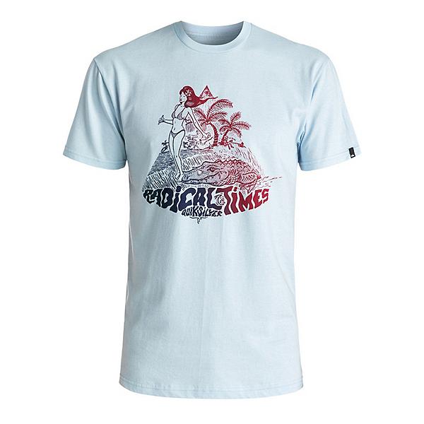 Quiksilver Crocoride Mens T-Shirt, Angel Falls, 600