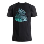 Quiksilver Crocoride Mens T-Shirt, Black, medium