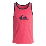 Quiksilver Mountain & Wave Logo Mens T-Shirt, Cardinal Heather, medium