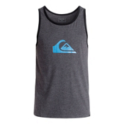 Quiksilver Mountain & Wave Logo Mens T-Shirt, Charcoal Heather, medium