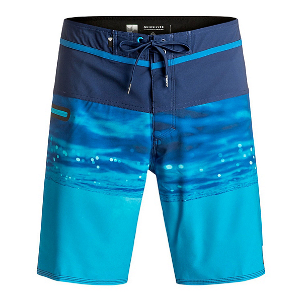 Quiksilver Hold Down Vee Mens Board Shorts, Estate Blue, 600