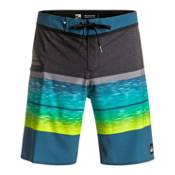 Quiksilver Slab Logo Vee Mens Board Shorts, Moroccan Blue, medium