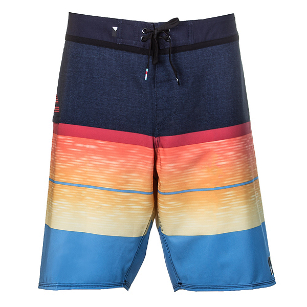 Quiksilver Slab Logo Vee Mens Board Shorts, Navy Blazer, 600
