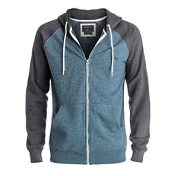 Quiksilver Everyday Zip Mens Hoodie, Indian Teal Heather, 256