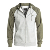 Quiksilver Everyday Zip Mens Hoodie, Light Grey Heather, medium