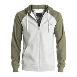 Quiksilver Everyday Zip Mens Hoodie, Light Grey Heather, 256