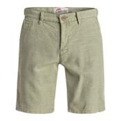 Quiksilver Greenwood Cutty Mens Shorts, Indian Teal, medium