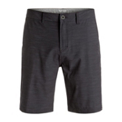 Quiksilver Slubbed Amphibian Mens Hybrid Shorts, Black, medium