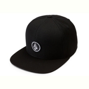 Volcom Quarter Twill Hat, Black, medium