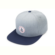Volcom Quarter Twill Hat, Heather Grey, medium