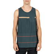 Volcom Threezy Tank Top, Airforce Blue, medium