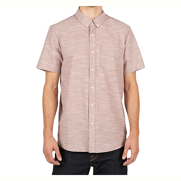 Volcom Everett Oxford Mens Shirt, Mauve, 600