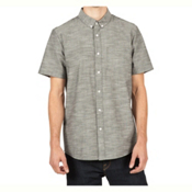 Volcom Everett Oxford Mens Shirt, Black, medium