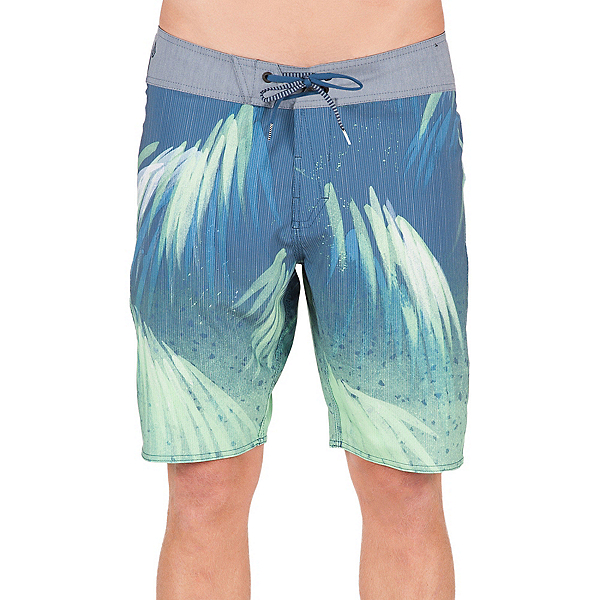 Volcom Bamboozle Mod Mens Board Shorts, Smokey Blue, 600